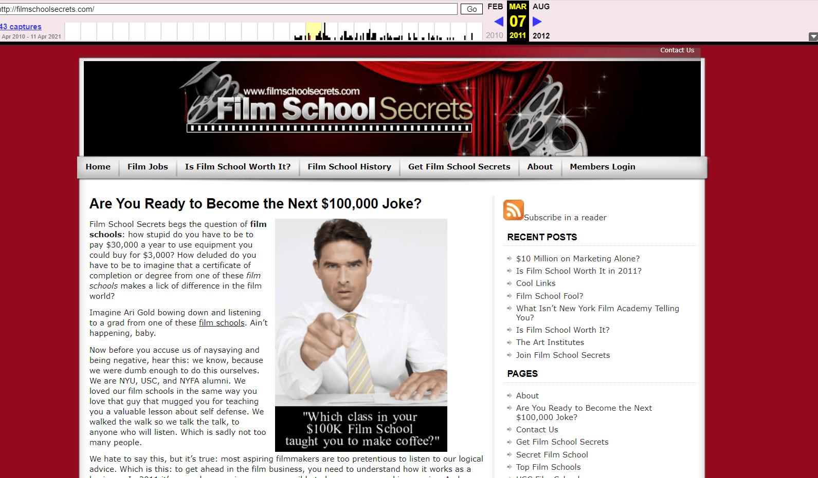 Film School Secrets Site 2011